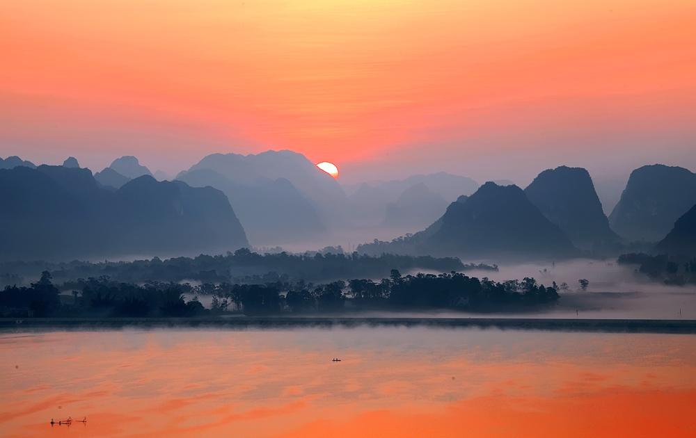渠洋湖风景区 - 靖西城市网●靖西旅游●靖西生活